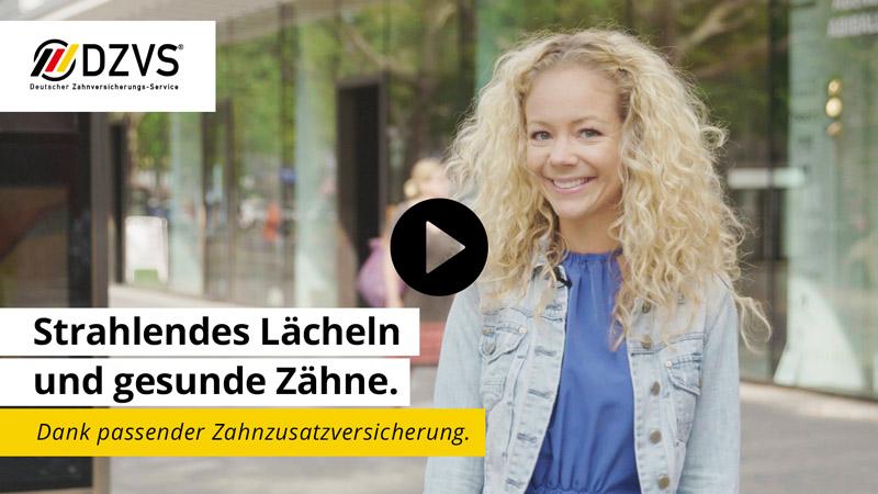 Video Strahlendes Lächeln Zahnzusatzversicherung Deutscher Zahnversicherungs-Service
