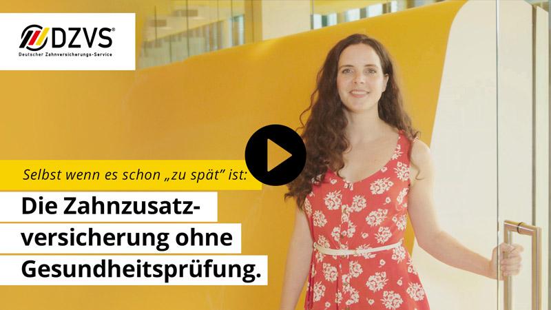 Video Zahnzusatzversicherung ohne Gesundheitsprüfung Deutscher Zahnversicherungs-Service